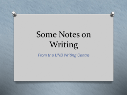 Notes on Writing Technical Papers