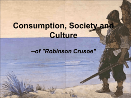 Robinson Crusoe ppt from economic group