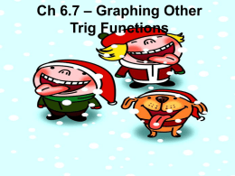 Ch 6.7 - Graphing Other Trig Functions