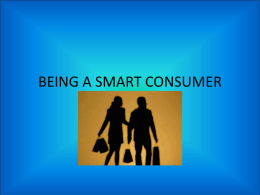 BEING A SMART CONSUMER - Big Walnut Local Schools