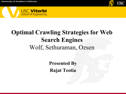 Optimal Crawling Strategies for Web Search Engines