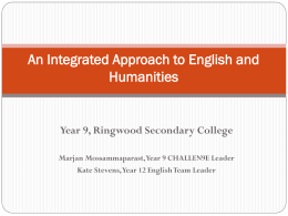 An Integrated Approach to English and Humanities