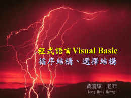 程式語言Visual Basic 循序結構