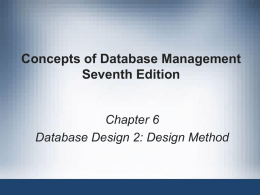 IS230 - Chapter 6 - Database Design Part II