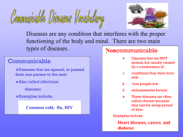 Diseases Vocabulary