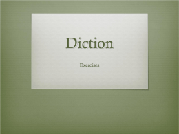 Diction - Cathedral Catholic High School