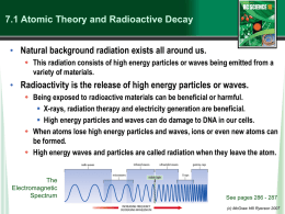 Atomic Isotopes and Radioactivity