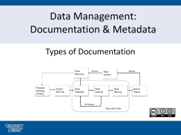 Documentation and Metadata - University of Virginia Library