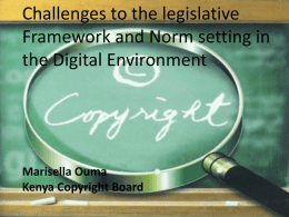Challenges to the legislative Framework and Norm
