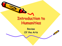 Intro to Humanities Arts