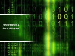 Binary Numbers PowerPoint