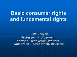 Basic consumer rights and fundamental rights