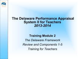 Component 2 - Delaware Department of Education