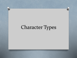 Character Types PowerPoint Lesson
