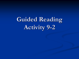 Guided Reading Activity 9-2