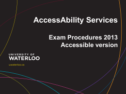 Exam Policy and Procedures Accessible Version