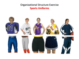 Organizational Structure Exercise Sports Uniforms