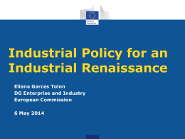 For a European Industrial Renaissance