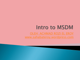 MSDM 1 - WordPress.com