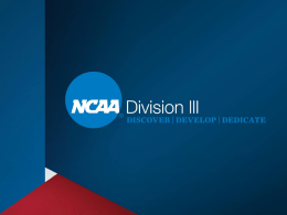 Division III Compliance Issues Related to Recruiting Student
