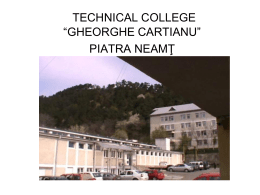 Technical College Gheorghe Cartianu