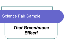 Science Fair Sample