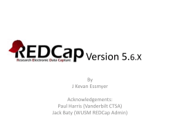 REDCap Project Request form