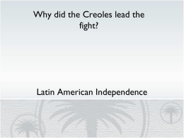 Latin American Independence DBQ