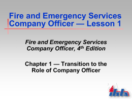 Fire and Emergency Service Company Officer