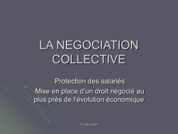 LA NEGOCIATION COLLECTIVE