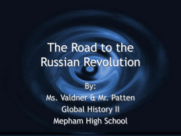 Causes Russian Revolution