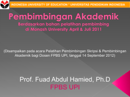 indonesia university of education * universitas - FPBS