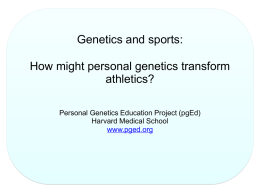 Do Now - Personal Genetics Education Project