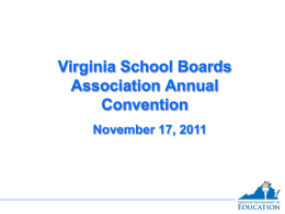 Student Academic Progress - Virginia School Boards Association