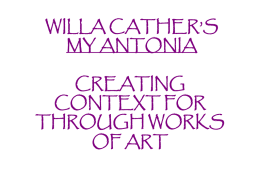 my antonia art ppt