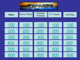Jeopardy Review Test 1