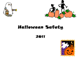 Halloween Safety Assembly