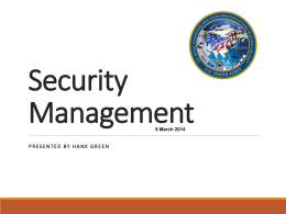 Green - Security Management