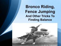 Tricks to Finding Balance - is on www.oregonhfma.org.
