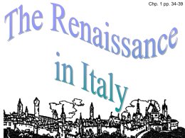 Section 1 Renaissance in Italy Digital Presentation