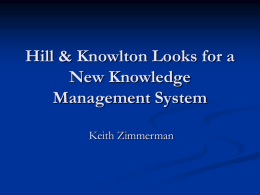 Hill & Knowlton Looks for a New Knowledge Management System