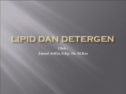 LIPID DAN DETERGEN - WordPress