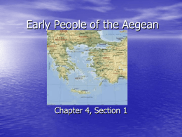 Early People of the Aegean