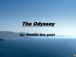 Intro Powerpoint for The Odyssey