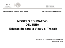 Modelo educativo del INEA