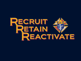 Recruit Retain Reactivate to Council Health ()