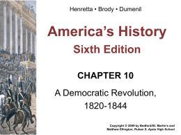 Chapter 10 Henretta Power Point