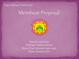 Contoh Proposal – Bahasa Indonesia