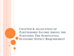 the substantial economic effect requirement