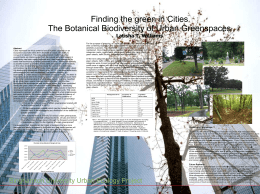 The Botanical Biodiversity of Urban Greenspaces